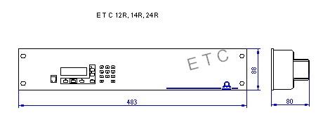Первичные часы MOBATIME - серия ETC R - конструктивная схема