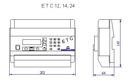 Первичные часы MOBATIME - серия ETC - конструктивная схема