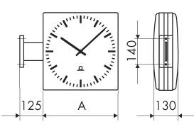 Двухсторонние часы с монтажным комплектом WS