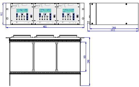 Часовая станция MOBATIME серии CTC, 19' консоль