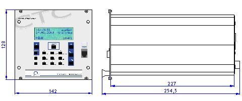 Часовая станция MOBATIME серии CTC, конструктивная схема